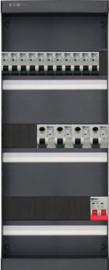 1-fase groepenkast met 11 installatieautomaten en 4 aardlekschakelaars met 15 modules vrij voor extra opties