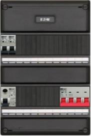 3-fase groepenkast met 2 installatieautomaten met 16 modules vrij voor extra opties (volgens nieuwe NEN1010 norm)