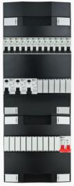 1-fase groepenkast met 12 installatieautomaten met 16 modules vrij voor extra opties