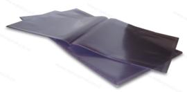 Gatefold grammofoonplaten beschermhoes voor 2 LP's, glashelder pvc, dikte 0.18 mm.