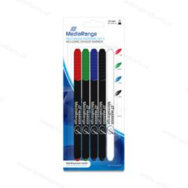 MediaRange Multimedia Markers | 5-pack (eraser included)
