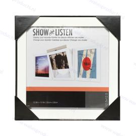 Snap Show and Use Wissellijst voor 1 LP, kleur: wit