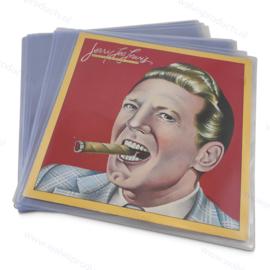Grammofoonplaten beschermhoes voor LP's, glashelder pvc, dikte 0.18 mm.