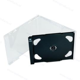 "Brilliant 2CD tray, antraciet - met ""2CD"" logo"