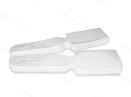 100 Stück - Economy Kofferanhänger -  Weiß - Onbedruckt