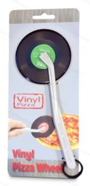 Schallplatten Pizzaschneider - grünes Etikett