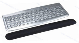 Walvis Products Keyboard Wrist Pad, colour: silver-grey
