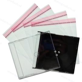 100 stuks glasheldere cellofaan sealbags voor maxi single en slim cd doosjes, met hersluitbare klep