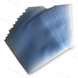 PP 1CD/DVD hoesje 135 x 130 mm., dikte: 0.12 mm., zonder klep, transparant