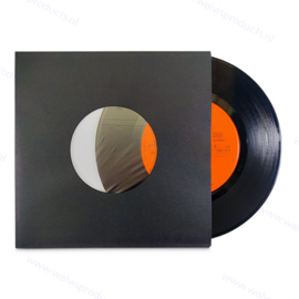 """Polylined Paper 7"""" Vinyl Record Anti Static Sleeve, black 70 grs. paper"""