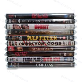 100 Stück - Cellophan-Schutzhüllen für DVDs in Leerboxen | mit Verschluss