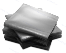 PVC 1CD/DVD hoesje zonder klep, transparant, extra groot (140 x 140 mm.)