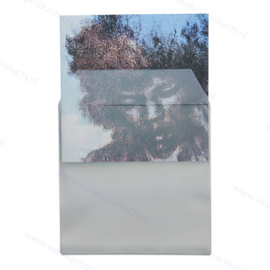 """Standard weight 12"""" PVC Transparent White Vinyl Record Outer Sleeve with flap, thickness 150 micron"""