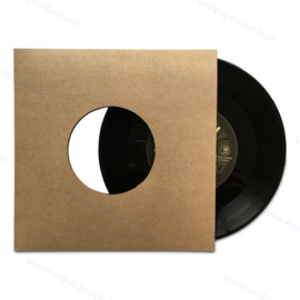 """Card 7"""" Vinyl Record Sleeve with centre holes, brown 300 grs. kraft"""