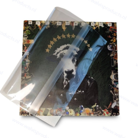 """100-pack - 7"""" BOPP Vinyl Record Blake Sleeves with resealable flap, thickness 50 micron"""