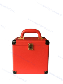 Walvis Retro-Style Carrying Case, red - capacity: approx. 50 units 7-Inch Records