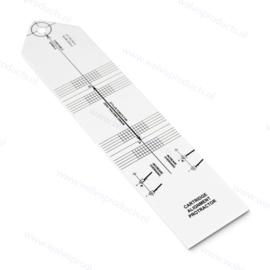 Goka Protractor | Einstell- & Überhang Schablone (Weiß)