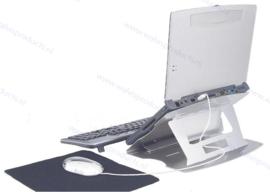 Walvis Products Mobiele Laptop Standaard, met 4 poorts USB 2.0 hub