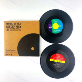 Gramophone record coasters - set of 2 pieces