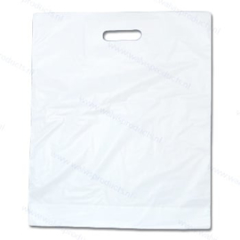 100-pack - 7-Inch Record Shopping Bags - white polythene