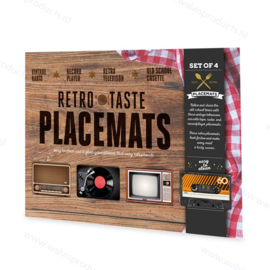 4-pack - Mikamax Retro Placemats