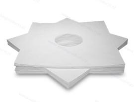 """10"""" Cover Papier - weiß, mit Fütterung - 2. Wahl"""