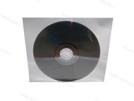 Zelfklevend (met 1 strip) PP 1CD/DVD hoesje, zonder klep, transparant