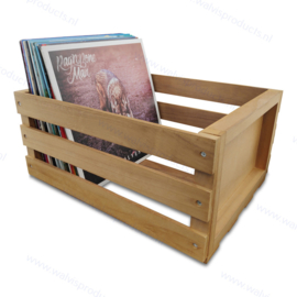"""The Tiny Walvis Record Crate - capacity: approx. 75 units 12-Inch Maxi Singles or 10"""" Records"""