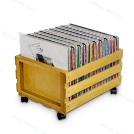 The Walvis Record Crate on Wheels - capacity: approx. 75 units 12-Inch records