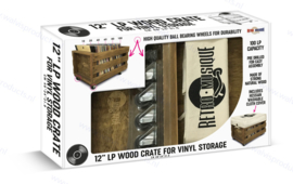 Retro Musique Record Crate on Wheels - capacity: approx. 100 units 12-Inch records