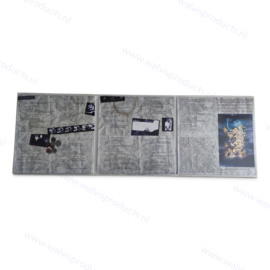 Gatefold grammofoonplaten beschermhoes voor 3 LP's, glashelder pvc, dikte 0.18 mm.