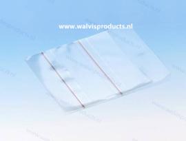Zelfklevend PP 1CD/DVD hoesje met rechte hoeken, met klep, transparant, dikte: 0.12mm.