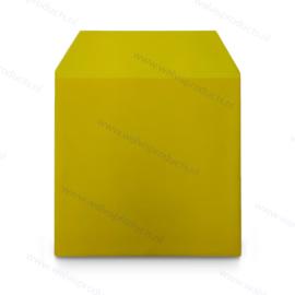 Grammofoonplaten beschermhoes voor LP's, met klep, transparant-geel pvc, dikte 0.18 mm.