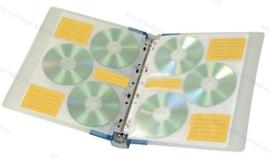 Walvis Products Ringband voor 60 CD's/DVD's, inclusief 10 hoezen voor elk 6 CD's/DVD's
