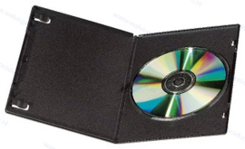 Slim (7 mm) 1-DVD box, colour: black, premium quality
