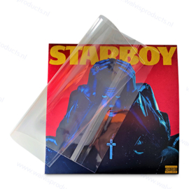 """100-pack - 12"""" BOPP Vinyl Record Blake 2LP Sleeves with resealable flap, thickness 50 micron"""