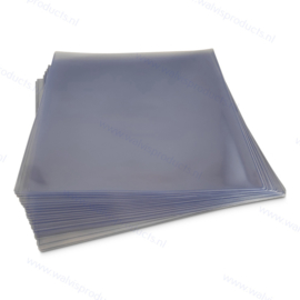 """Standard Weight 12"""" PVC Glass Clear Vinyl Record Outer Sleeve, thickness 140 micron"""