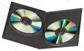 Slim (7 mm) 2-DVD box, colour: black, premium quality