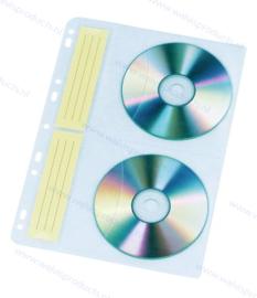 4CD/DVD pp ringbandhoes met universele perforatie, binnenzijde gevoerd