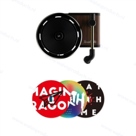 Retro record player car air freshener