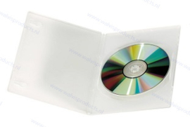 Slim (7 mm) 1-DVD box, colour: transparent