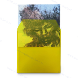"""Heavyweight 12"""" PVC Transparent Yellow Vinyl Record Outer Sleeve with flap, thickness 180 micron"""