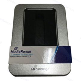 MediaRange Tin Packaging for 1 USB Stick - with clear window