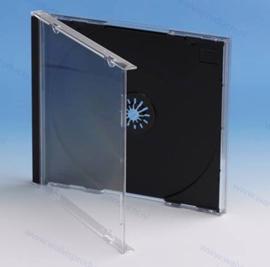 Standaard 10.4mm. 1CD doosje, met gemonteerde zwarte tray