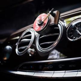 Retro platenspeler luchtverfrisser voor in de auto