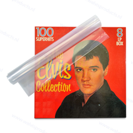 """10-pack - Standard Weight 12"""" Polythene Clear Vinyl Record Box Set Sleeves, thickness 100 micron"""
