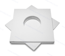 """Card 7"""" Vinyl Record Sleeve with centre holes, white 300 grs. card"""