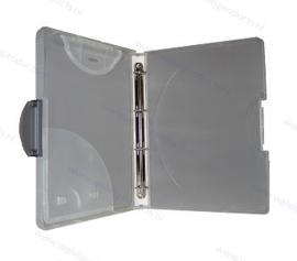 Walvis Products Afsluitbare Ringband (Hardbox), kleur: semi-transparant, met grijze clip