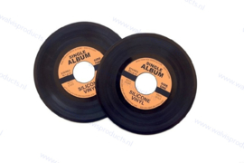 Grammofoonplaten Pan-onderzetters - set a 2 stuks