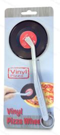 Schallplatten Pizzaschneider - rotem Etikett